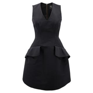 Alexander McQueen Black Fit and Flare Structured Dress