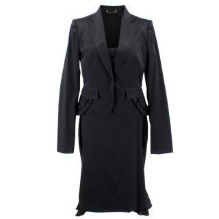 Gucci Black Frill Blazer and Dress Set