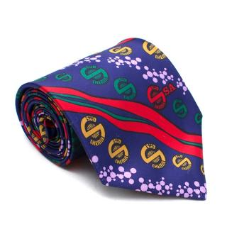 Vinuchi Blue Patterned Silk Tie