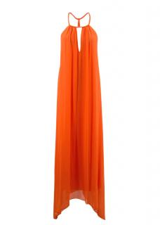 Alice + Olivia Orange Maxi Dress