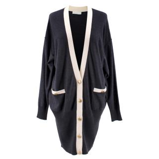 Nicole Farhi Charcoal & Cream Cardigan