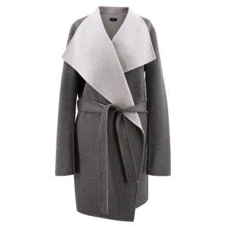 Joseph Grey Cashmere 'Lisa' Wrap Coat