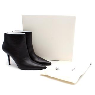 Celine Black Pointed Toe Ankle Boots