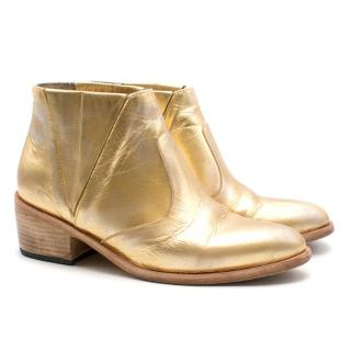 Esquivel Chrissie Gold Ankle Boot