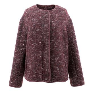 Vanessa Bruno Athe Burgundy Wool Blend Jacket