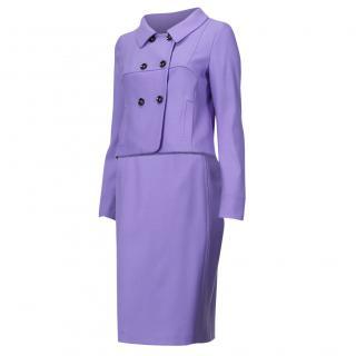 Laurel periwinkle mauve virgin wool suit