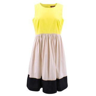 Maxmara Neon Yellow Dress
