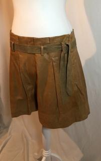 See by Chloe Brown/Camel Leather Shorts