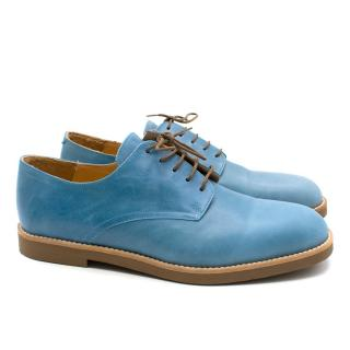 T&F Slack Shoemakers London Blue Leather Brogues