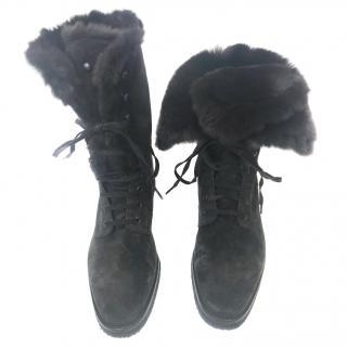 Loro Piana Fur Boots