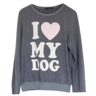 WildFox I Love My Dog Sweatshirt