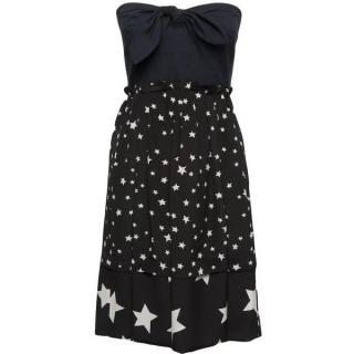 Sonia Rykiel strapless silk star dress