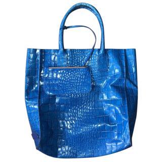 Avila Mykonos Blue Leather Bag