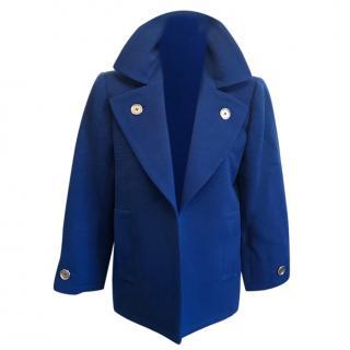 Vintage YSL jacket in azure blue size 10