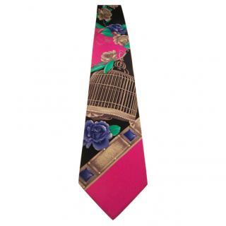 Leonard Navy & pink tie