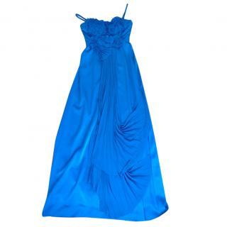 BCBG Max Azria blue evening dress
