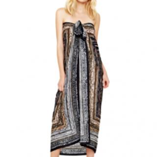 Gottex Snake Charmer Pareo/Scarf/Coverup (Black/Brown) - NWT