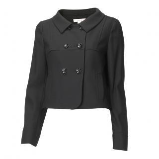 Laurel black virgin wool jacket.