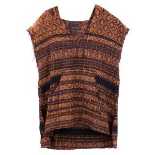 Baja East Orange hooded sleeveless Vest