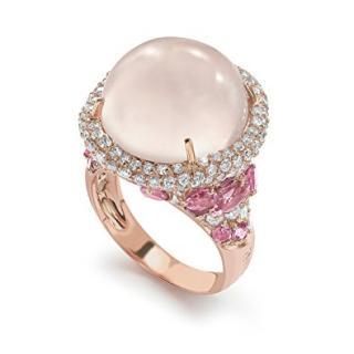 Brumani Baobab Rose Quartz, Sapphire, Diamond Ring RRP �6500