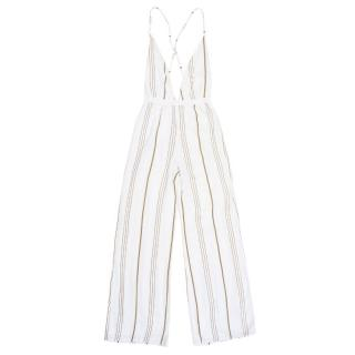 Faithfull the Brand Shutterbabe Ivory Striped Jumpsuit