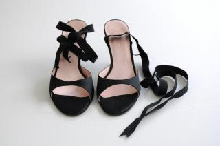 Paul Smith black satin sandals