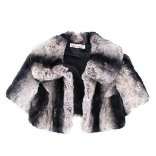 Chetta B Black and White Rabbit Fur Short Jacket