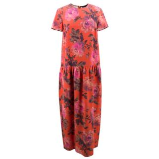 House of Hackney Red Floral Maxi Dress