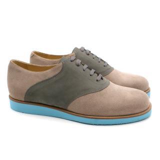 T & F Slack Shoemakers London Handmade Stone Grey Clark 413
