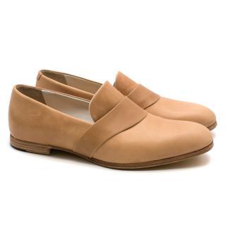 T&F Slack Shoemakers London Handmade Beige Loafers