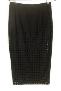 T by Alexander Wang Black Cut Out Pencil Skirt