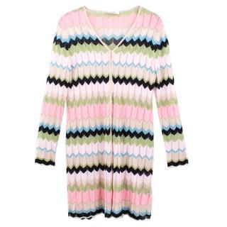 Laurel Colour Block Metallic Cardigan Dress