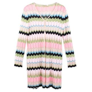 Laurel Colour Block Metallic Cardigan Dress