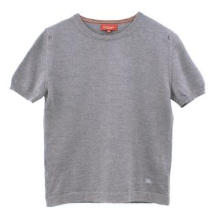 Burberry London Grey Short Sleeve Knitted Top