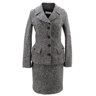 Dolce & Gabbana Grey Textured Suit