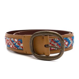 Bespoke Beaded Leather Belt