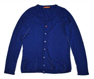 women's navy blue cotton cardigan