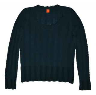 women's green wool sweater