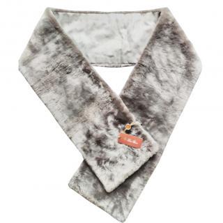 Loro Piana double reversible mink scarf