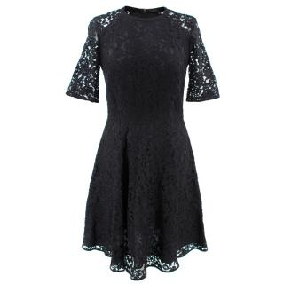 Joseph Black Lace Floral Dress