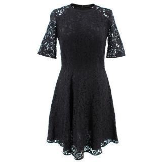 Joseph Black Lace Floral Dress