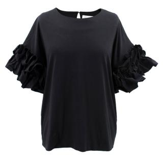 Victoria Victoria Beckham Dropped Frilled Sleeve Top
