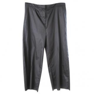 Rochas black wide leg trousers