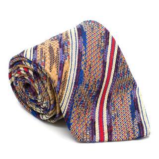 Missoni Diagonal Multicoloured Pattern Tie