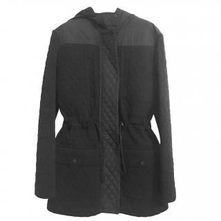 Chanel Black Wool Hooded Parka