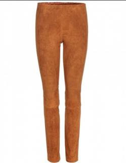 Joseph tan suede leggings