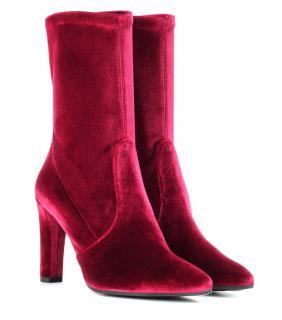 Stuart Weitzman velvet Clinger boots