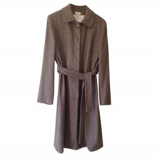 Pringle of Scotland Herringbone Wool Coat