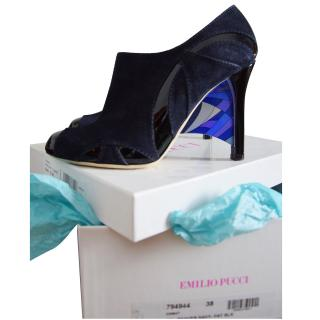 Emilio Pucci Leather & Suede Ankle Boots