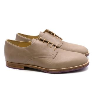 T&F Slack Shoemakers London Beige Leather Brogues